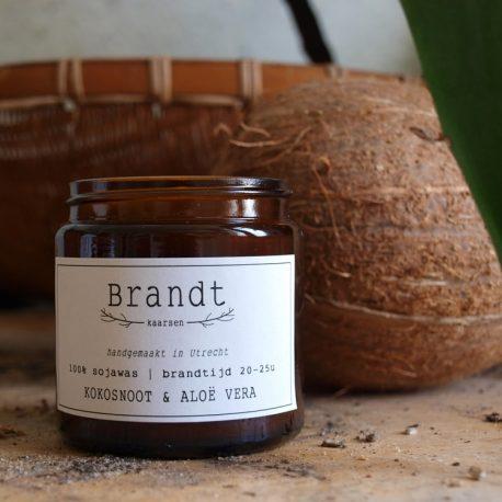 Kokosnoot geurkaars sojawas