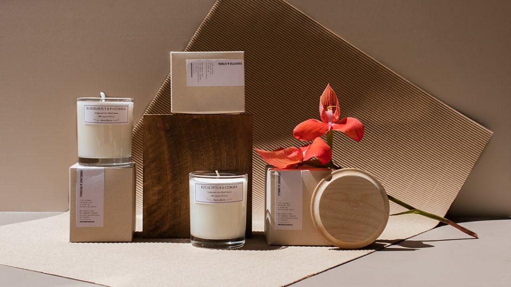 Kaarsen Collectie Hout Brandt